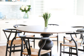 round kitchen chair and table