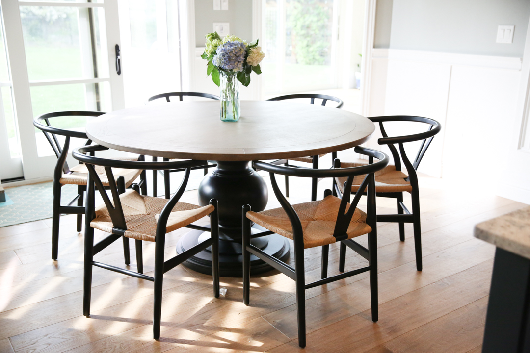 Round kitchen chairs and table