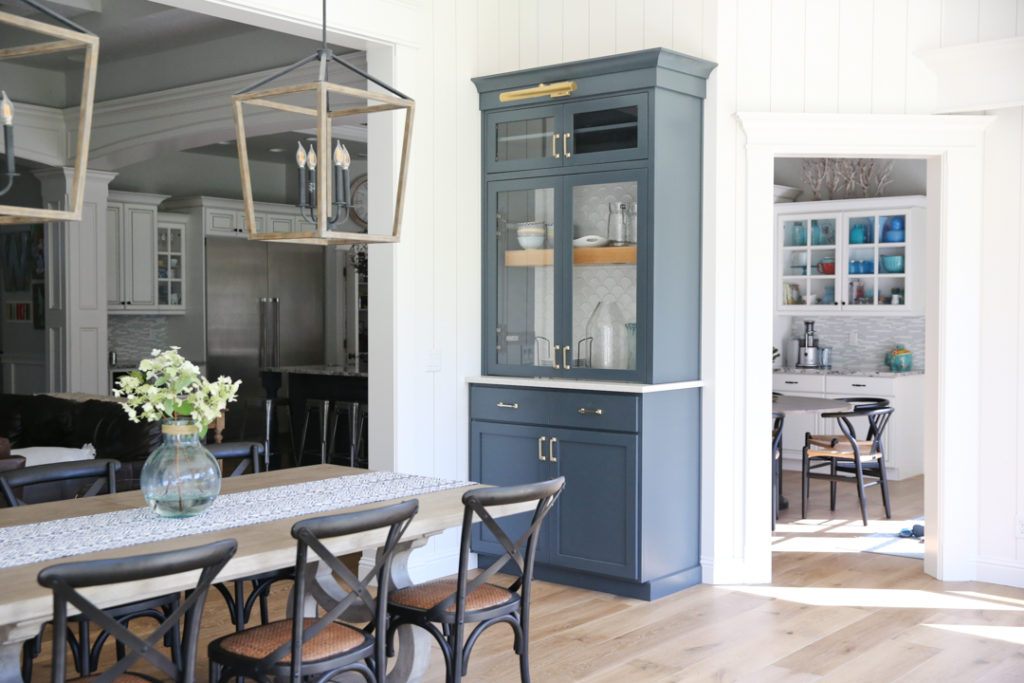 built in dining room hutch