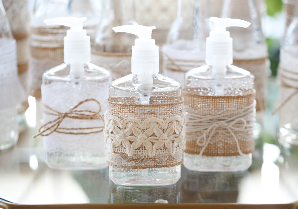 decorated hand sanitizer bottles