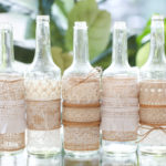 Lace and Burlap Bottles